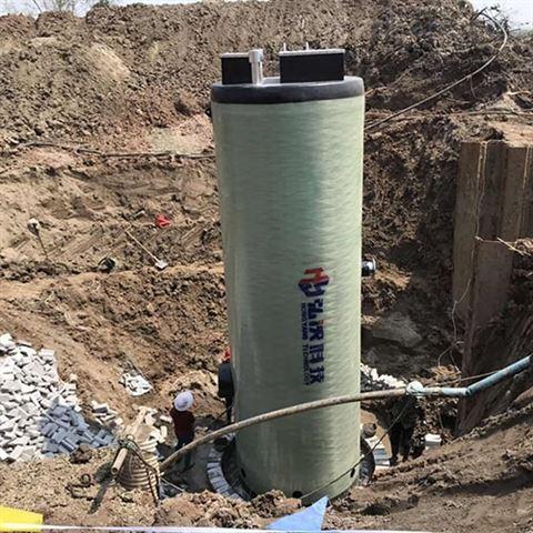GPR玻璃钢一体化污水提升泵站弘泱预制泵站