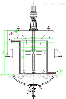 500L不锈钢冷冻结晶釜