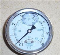 台湾鸿凯过压防止型35KG气体压力表不锈钢