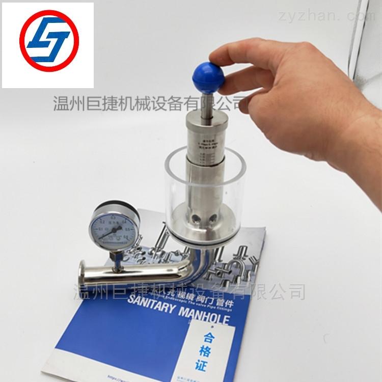 卫生级不锈钢带压力表微型自动排气阀