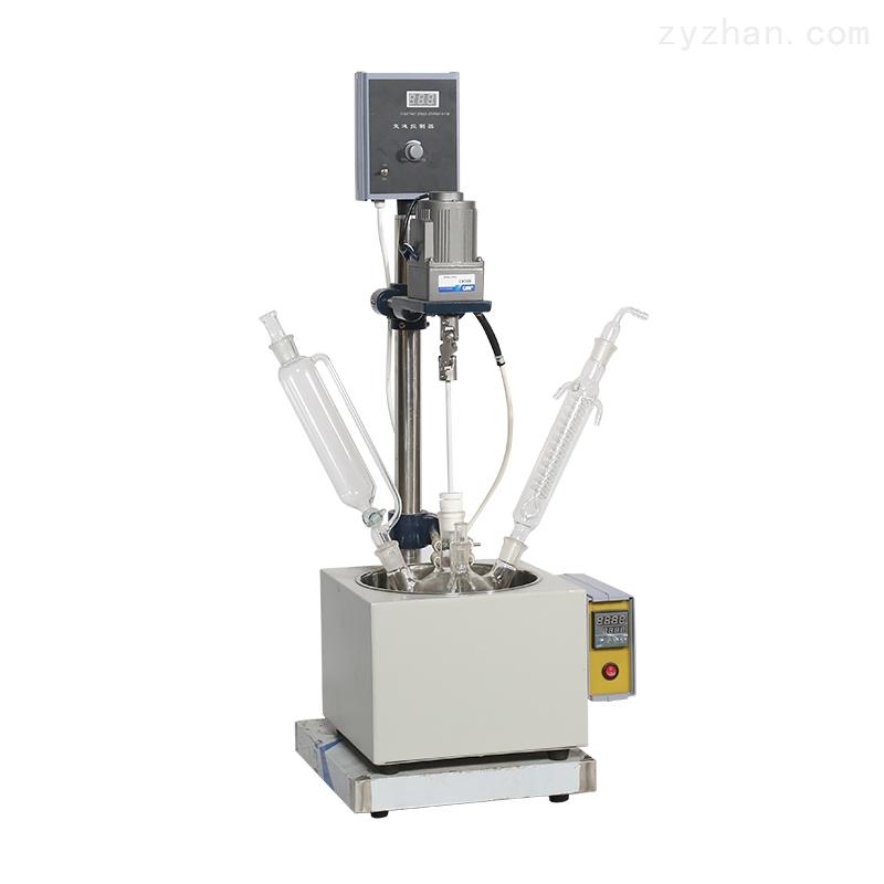 秋佐科技自带加热单层玻璃反应釜