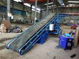 直销电动爬坡输送机 生产大倾角高效率皮带机