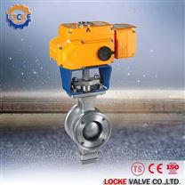 進口電動V型調節球閥