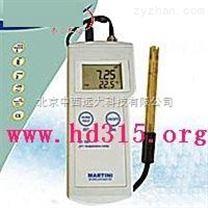 便攜式pH測定儀/便攜式酸度計/ 型號:milwaukeech/MI105 庫號:M322184