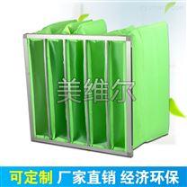 G4绿白色合成纤维空气净化袋初效袋式过滤器