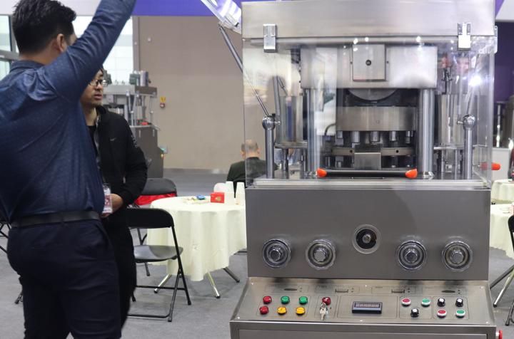 上海绿翊压片机产品精彩亮相第58届药机展