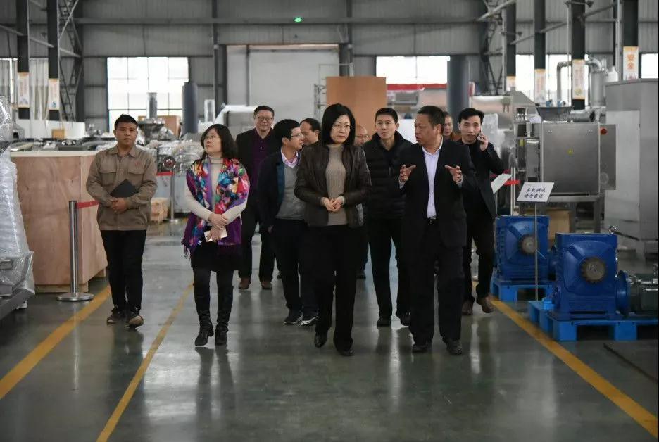 江西省工信厅党构成员、副厅长钱昀带队调研宜春万申