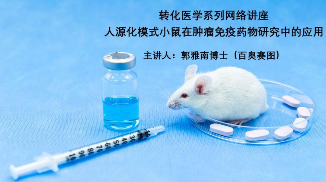 转化医学系列|人源化模式小鼠在肿瘤免疫药物研究中的应用